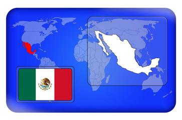 3D-Button - Mexiko