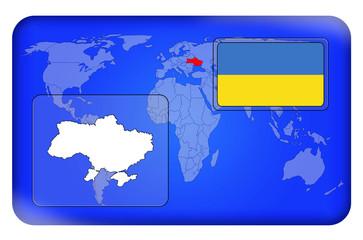 3D-Button - Ukraine