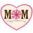 Isolated Mothers Day Heart - 16823332