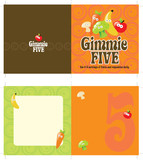 5x10 brochure template w/ 70s style background poster