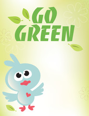 8.5x11 Go Green Flyer/Poster Template