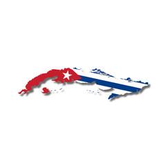 Cuba, mappa bandiera