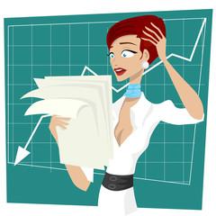 business women unhappy
