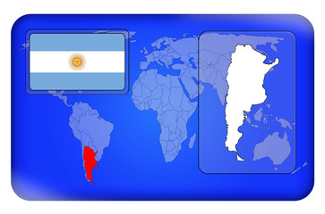 3D-Button - Argentinien