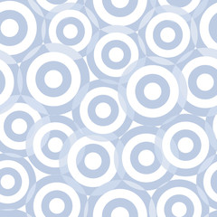 Seamless blue circle vector pattern