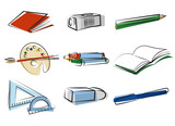 stationery object vector poster