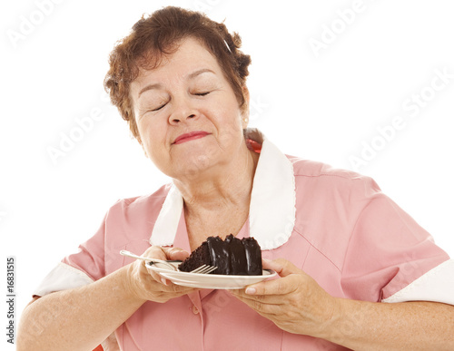 Waitress Loves Chocolate Cake