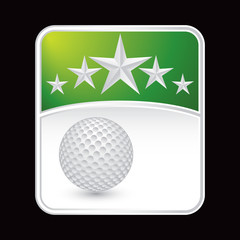 Golf ball green star backdrop