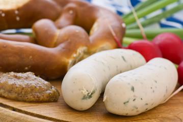 Weisswurst mit Brezen