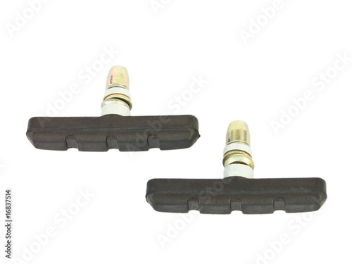 Bicycle brake pad isolated