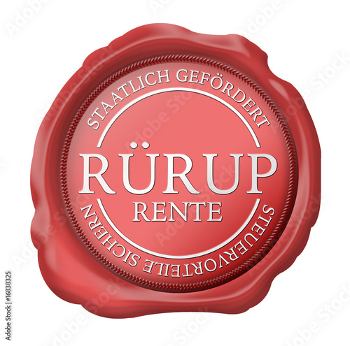 siegel button rürup rente