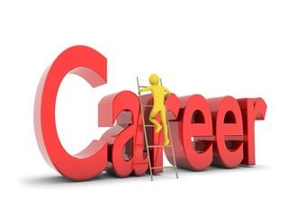 Man climbing the career ladder