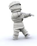 man in halloween mummy costume poster