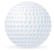 Golf ball isolated on white