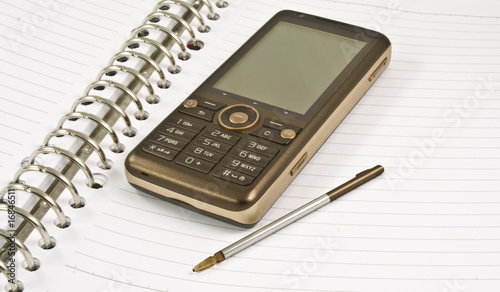 Blank Notebook, Stylus, Mobile Phone