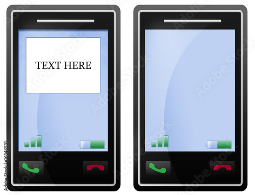 Blank black mobile phone screen