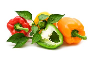 slice colorful bio fresh paprika