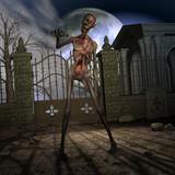 Halloween Scene mit Zombie poster