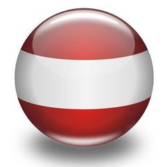 Kugel Österreich Fahne