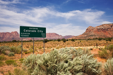 Colorado City City Limits Sign
