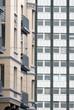 Fassaden in der Innenstadt von Kiel, Deutschland