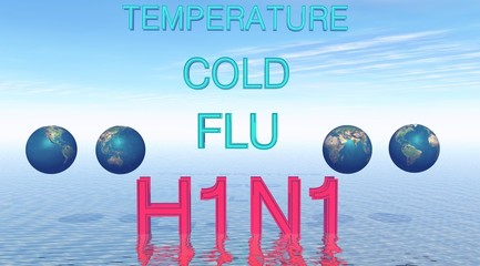 The flu H1N1 with four planets on the water
