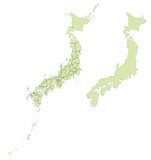 詳細な日本地図
