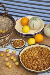 tartes aux mirabelles et fruits