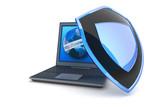 Fototapety Internet security. Hi-res digitally generated image.
