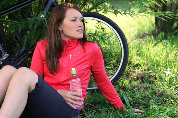 Rest after bicycling