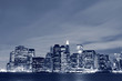 Lower Manhattan skyline at Night Lights