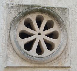 Wall decoration. Sassi of Matera. Basilicata.