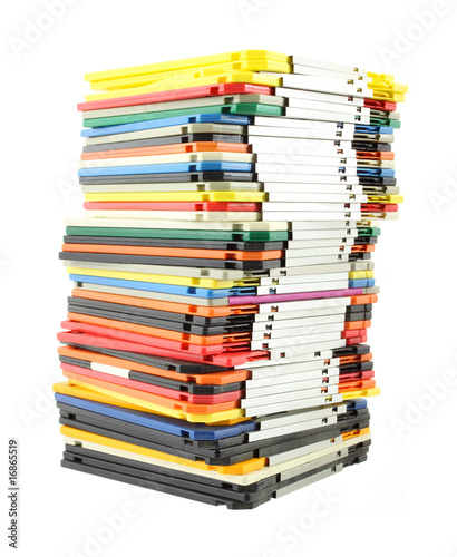 Large stack of computer floppy disks