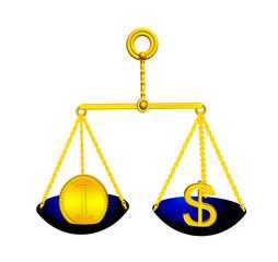 Scales balance gold(en) medal