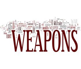 Weapons word cloud