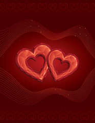 Two Jewelled Hearts