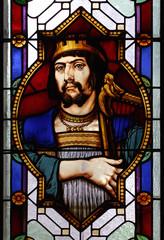 David mit der Harfe Kirchenfenster Naunhof
