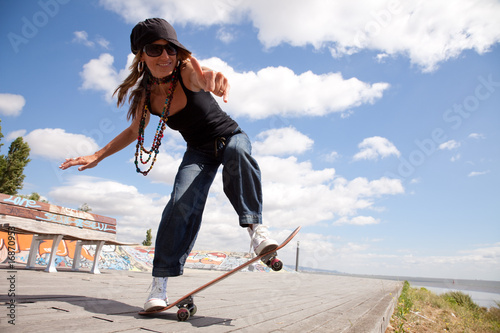 cool skateboard woman