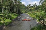 White Water Rafting on the rapids of river in Bali Island poster