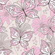roleta: Seamless butterfly background