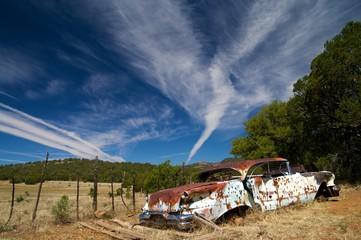 Abandoned Bullet Sprayed Car