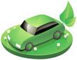 Voiture verte écologique (détouré)