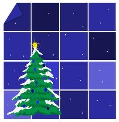 sfondo natalizio blu