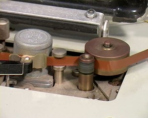 Open Reel Tape Recorder Capstan spinning