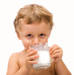 boy drinking milk