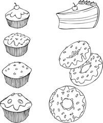 Kuchen, Muffins, Donuts, Torte, süß, lecker