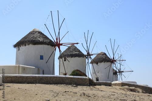 Moulins à vent de Mykonos - Cyclades - Grèce