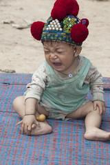asiatisches Baby von Laos, Volksgruppe Yao