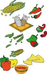 Mexiko, Gemüse, Schoten, Chili, Tapas