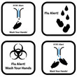 "Set of ""Wash your hand"" icons"